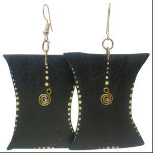 Handmade Dangling Wooden Earrings